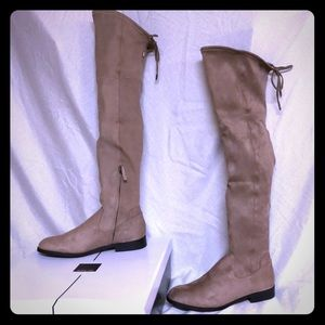 NWT Dolce Vita taupe suede over the knee boots